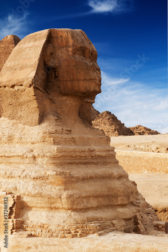 Photo Stands Egypt sphinx