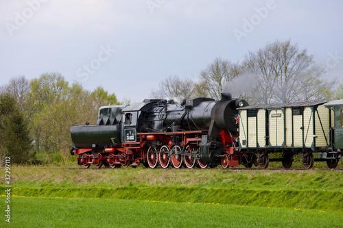 Plakaty pociągi   pociag-parowy-veendam-stadskanaal-holandia