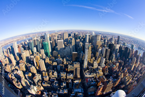 Fotografie, Obraz  view of Manhattan from The Empire State Building, New York City,