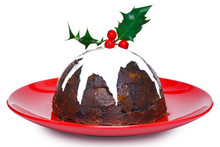 Christmas Pudding Isolated