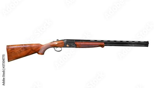 Obraz na plátně hunting shotgun isolated on white