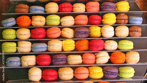 Staande foto Macarons Alignement de macarons