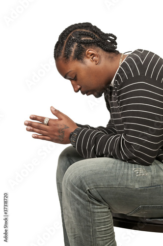 Fotografie, Obraz  Black man praying