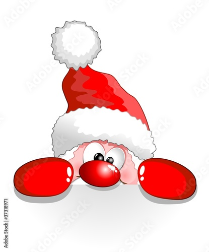Photo Stands Draw Babbo Natale Buffo Auguri-Funny Santa Claus Cartoon Background