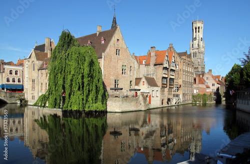Poster Brugge Most common view of medieval Bruges