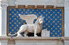 Winged Lion, Symbol Of Venice, Italy.