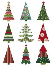 Retro Christmas Trees