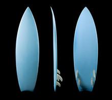 Surf Board On Black Background