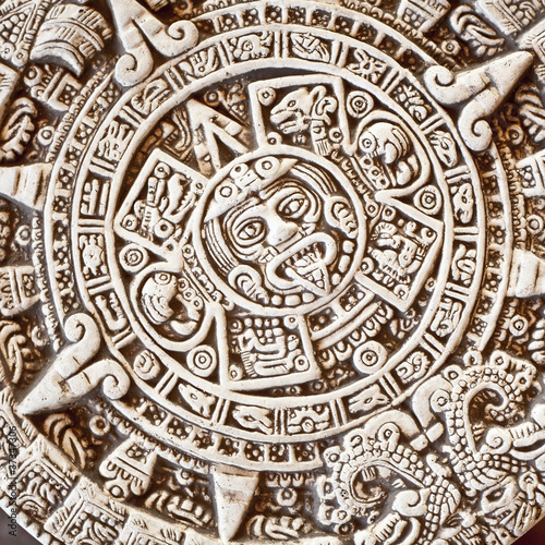 Aztec Calendar Stone.Aztec Calendar Stone Of The Sun Buy This Stock Photo And Explore