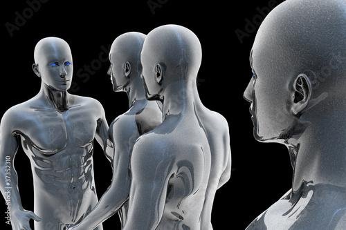 Photo sur Toile UFO Cyborg - man and machine - future