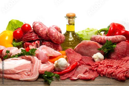 Fotografia  carne mista assortita