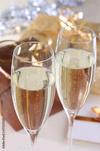 Gold/Brown Presents and Champaign