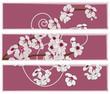 pannello artistico con fiori di ciliegio