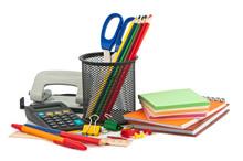 Set Of Stationery Items.