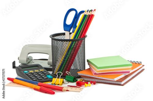 Fotografia  Set of stationery items.