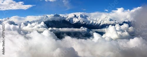 Wall Murals Nepal panoramatic view from langtang to ganesh himal