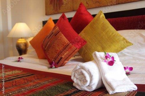 Doppelrollo mit Motiv - Hotelroom
