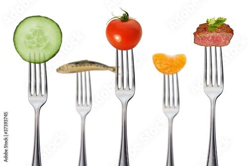 Canvas Prints Fresh vegetables gesunde vollwertkost