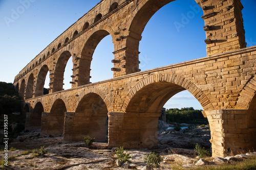 Poster Artistique Pont du Gard, Languedoc-Roussillon, France