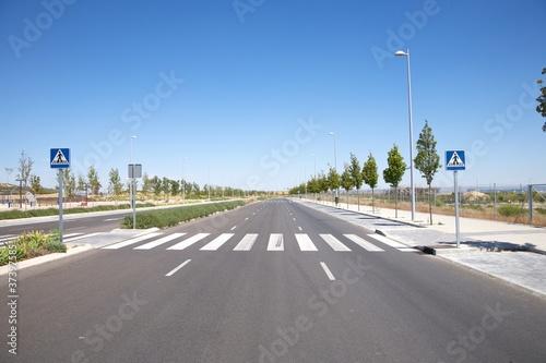 Fototapeta nobody on crosswalk