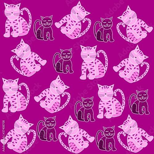 Printed kitchen splashbacks Cats Cats pattern