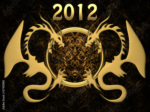 Background for new 2012 year Poster