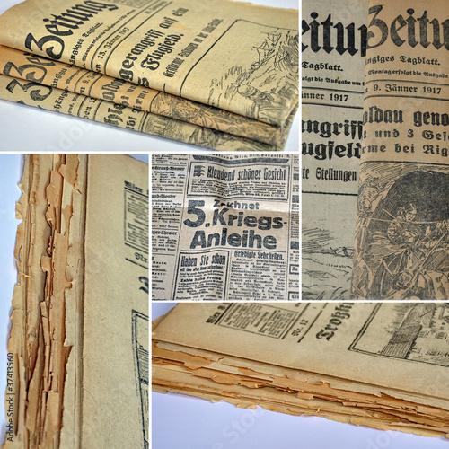 Fotobehang Kranten alte zeitungen