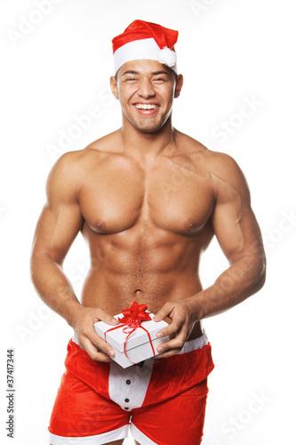 Image of sexy man wearing santa claus costume  sc 1 st  Adobe Stock & Image of sexy man wearing santa claus costume - Buy this stock photo ...