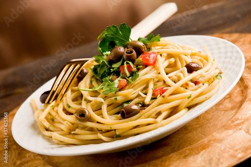 Fotografie, Obraz  Pasta con le Olive