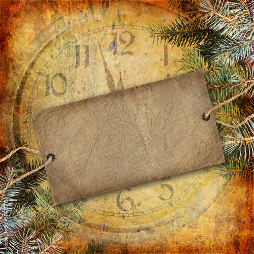Poster Kranten Happy New Year abstract background