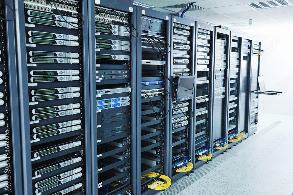 Fototapeta network server room