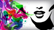 Speaking Woman, Fashion Backgr...