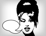 Speaking woman