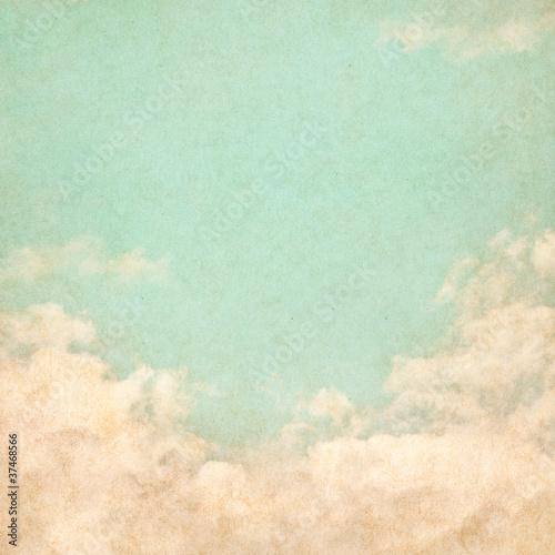 Foto op Canvas Retro Vintage Grunge Sky