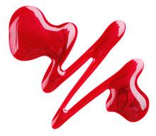 Red Nail Polish (enamel) Drops...