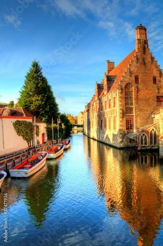 Deurstickers Brugge autumn in bruges, belgium