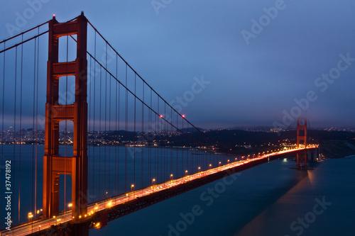 Spoed Foto op Canvas Groen blauw The Golden Gate Bridge