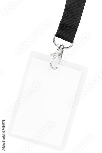 Fotografía  Blank badge or ID pass isolated with clipping path