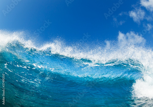Stickers pour porte Eau Blue Ocean Wave, View from in the Water
