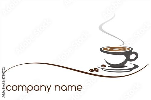 gorąca kawa, kawiarnia, projektowanie logo