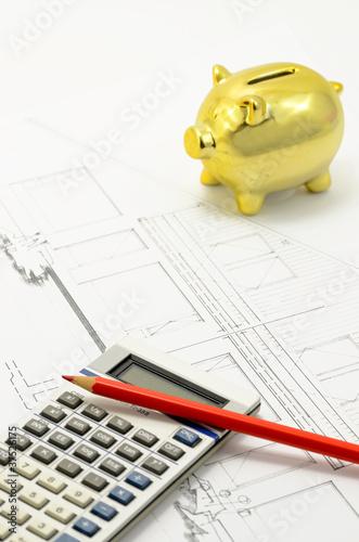 Fotobehang Tuin Bausparvertrag