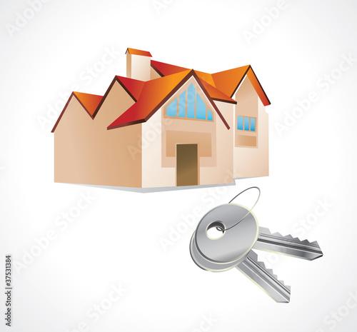 Photo  house and keys