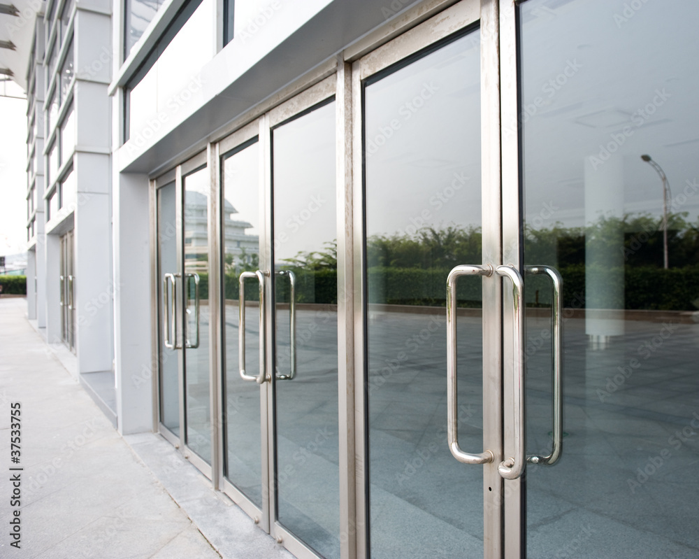Fototapeta glass door