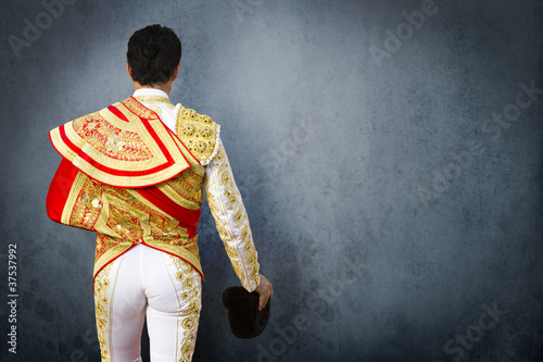 Torero dress, fighting bull