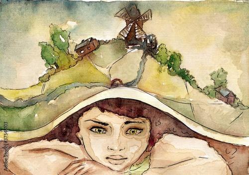 Poster Inspiration painterly fantazje chłopca