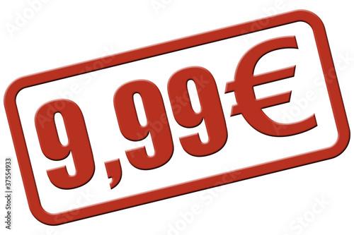 Stempel rot rel 9,99 EURO Poster