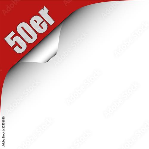 Valokuva  Seitenecke rot links 50ER