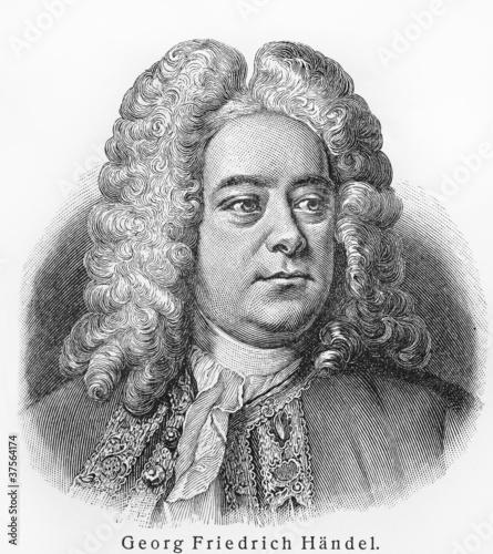 Fotografie, Obraz  Georg Friedrich Handel
