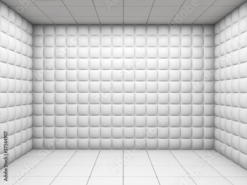 Fotografia White empty padded room