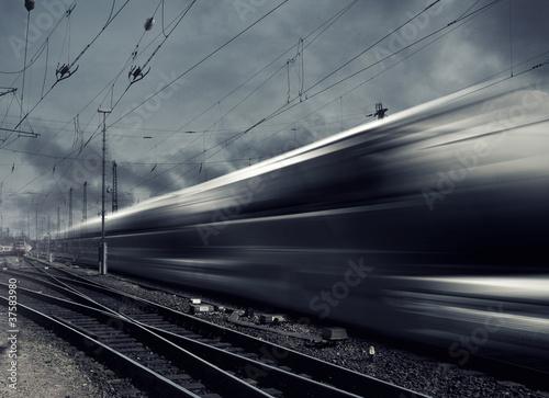 Poster Voies ferrées Fast Train